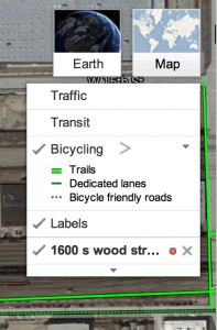 Google Maps bicycling layer legend